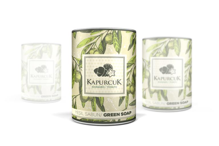 Organik Yeşil Sabun Ambalaj Tasarımı